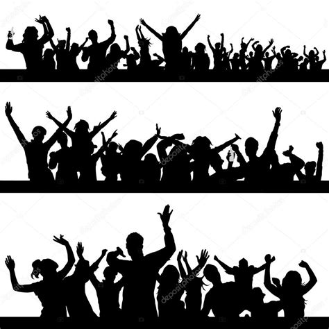 party silhouette party peoples silhouette stock vector 169 bogalo 6825805