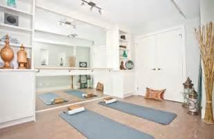 Yoga room asian home gym calgary by ana interiors