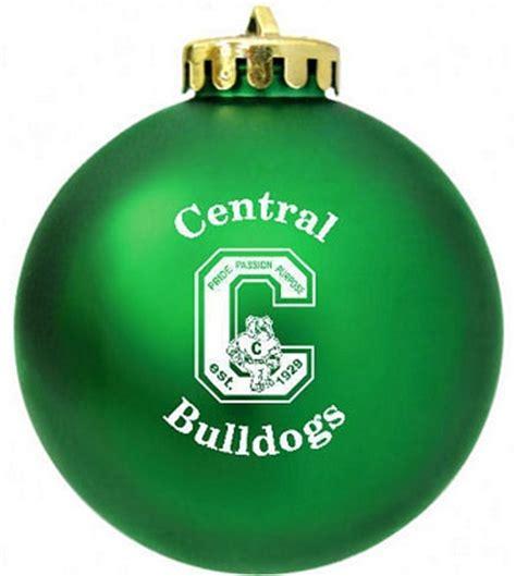 bulldogs high school christmas ornaments