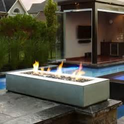 Outdoor Gas Firepit Paloform Robata Modern Rectangular Concrete Outdoor Pit Stardust