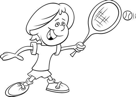 imagenes de niños jugando tenis para colorear imagenes para colorear de ni 241 os jugando tenis imagui
