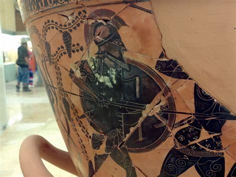 guerrier sur vase attique 224 figures noires