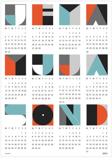 design kalender 200 best kalender design images on pinterest calendar