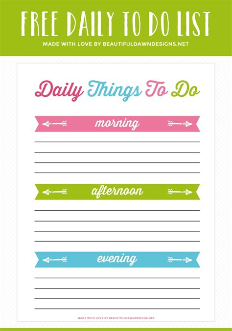 printable to do list with times printable daily to do list with times world of exle