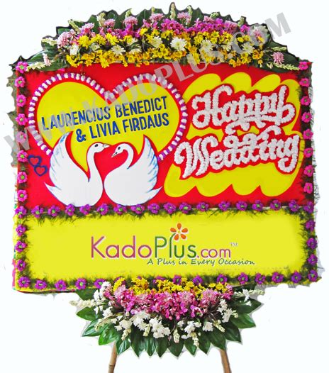 Karangan Bunga Papan Wedding 85733280003 happy wedding special 2 toko bunga florist