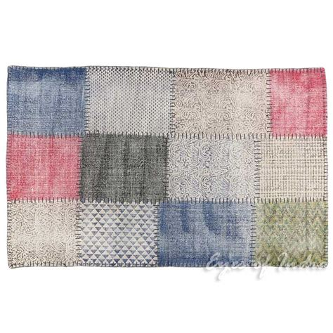 pw rugs 3 x 5 ft white colorful cotton print accent area dhurrie rug flat weave woven ebay