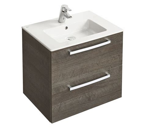 Ideal Standard Vanity Unit ideal standard tempo wall mounted 2 drawers vanity unit 600mm
