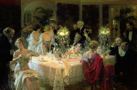 the end of dinner by jules alexandre grun - Dinner Painting