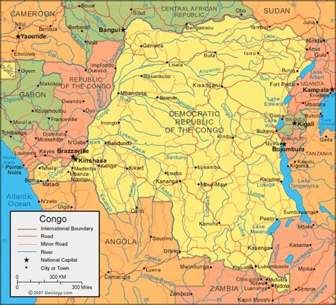 congo map republic of the congo map and satellite image