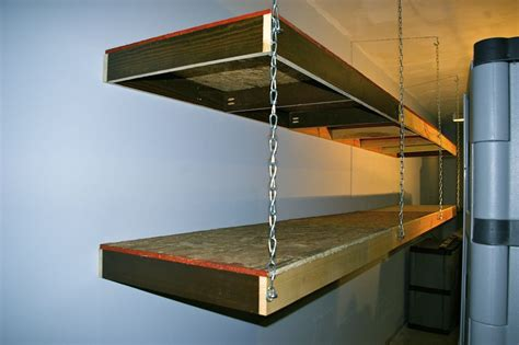 How To Build A Hanging Shelf In Garage by Garage Storage Shelves Home Design By Larizza