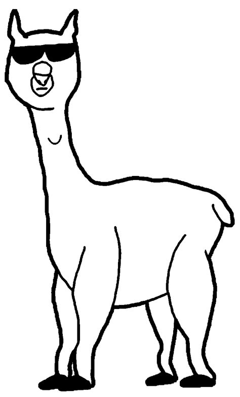 cool alpaca coloring page wecoloringpage