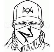 Aiden Pearce Colouring Pages