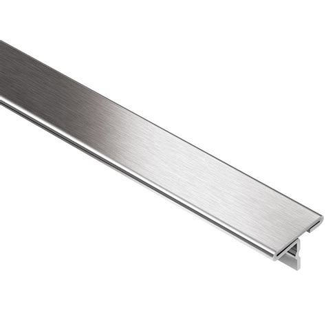 schluter reno t brushed stainless steel 1 in x 8 ft 2 1