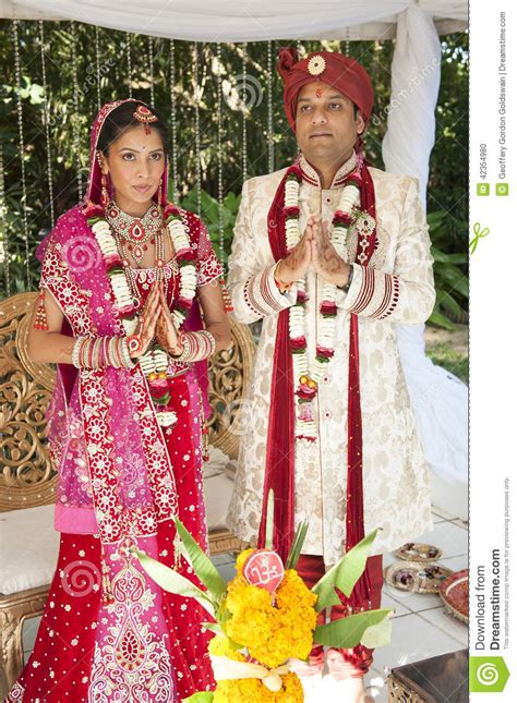 Wedding Ceremony For Couples by Handsome Hindu Bridal In Traditional Attire