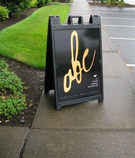 a frame folding and sidewalk signs sidewalk signs