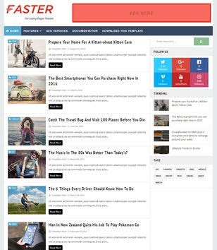 fast loading templates for blogger blogger templates 2017 top best free new templates