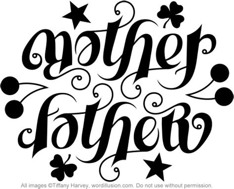 quot mother quot amp quot father quot ambigram a custom ambigram of the