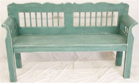 shabby chic painted pine bench 241353 sellingantiques