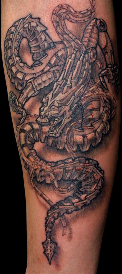 tattoo biomechanical dragon biomechanical tattoos and designs page 150
