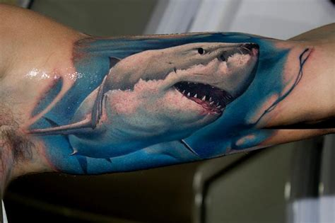 18 shark tattoos that represents strength and primal power