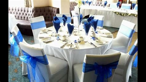 royal blue silver and white wedding decorations