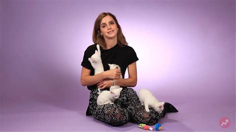 emma watson picture gallery celebrity talks emma watson plays with kittens and talks after beauty and