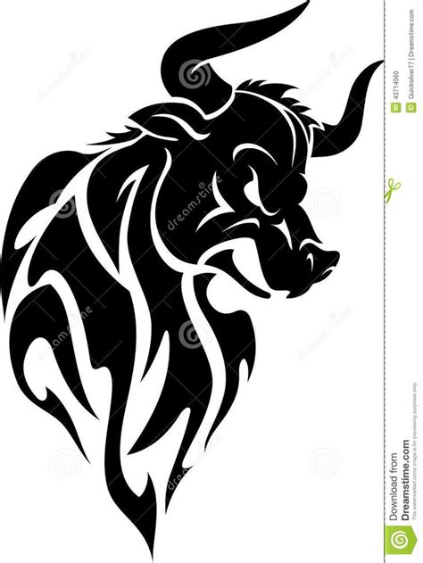 angry bull tattoo design 25 best tribal bull designs images on