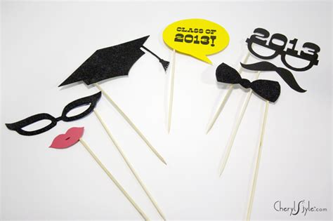 printable graduation photo booth props 2015 diy graduation photo props everyday dishes diy