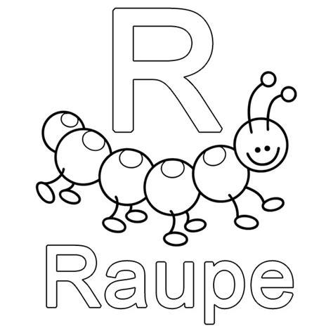 Kostenlose Vorlage Buchstaben Ausmalbild Buchstaben Lernen Kostenlose Malvorlage R Wie Raupe Kostenlos Ausdrucken Sprachen