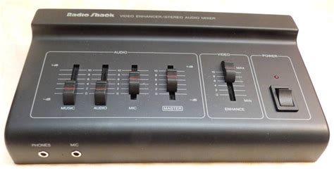 Audio Mixer Radio radio shack enhancer stereo audio mixer 15 1961 w box editing post production