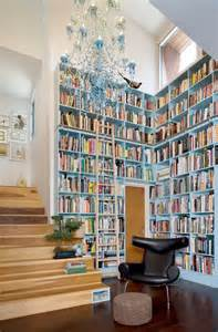 library bookshelves home library design ideas blue bookshelves in high home library