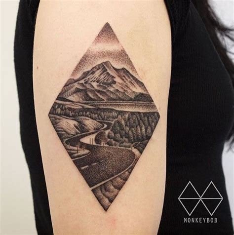 road tattoo 25 best ideas about landscape on