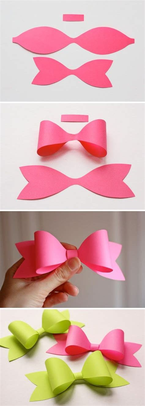 How To Make Paper Bows - how to make a paper bow stuff