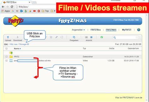 filme stream seiten network fritzbox wlan filme im wlan am fernseher oder pc