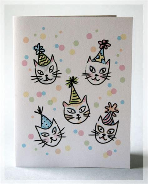 printable birthday cards cats free free printable happy birthday cats card kiddos pinterest
