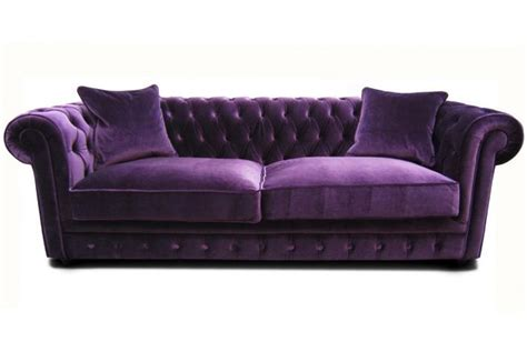 canapé chesterfield en velours canap 233 chesterfield en velours claridge design sur sofactory