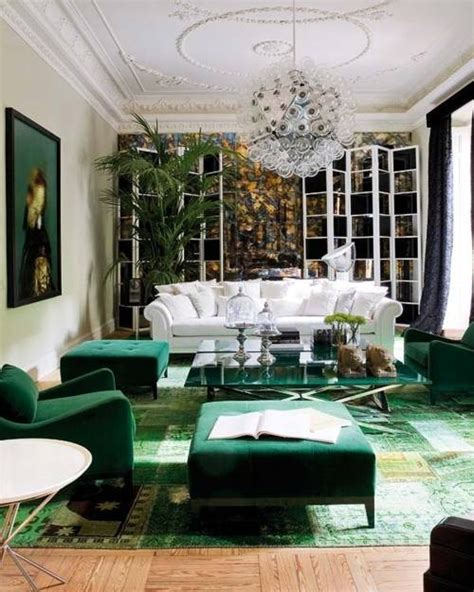 Emerald Living Room by Emerald Green Living Room Via