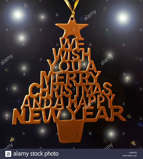 merry christmas   happy  year tree hand fretted stock photo royalty