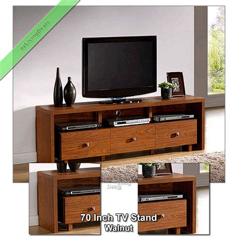 70 inch tv stand entertainment media console table stands
