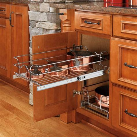 wire slide out shelves for kitchen cabinets rev a shelf pull out 2 tier wire basket about rev a