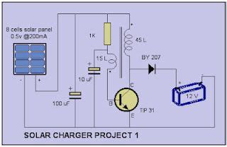 solar mobile charger project solar charger circuit project charger circuit