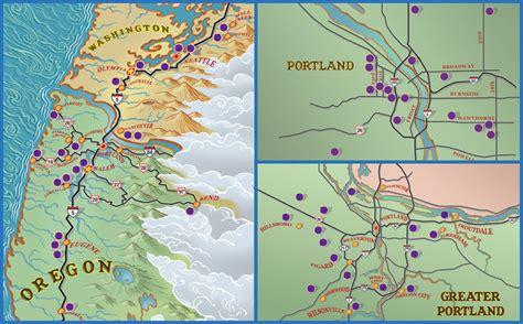 map of oregon breweries pubs restaurants in portland oregon mcmenamins