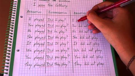 como formular preguntas en ingles en tiempo pasado aprender ingl 233 s conjugar el pasado simple en ingles