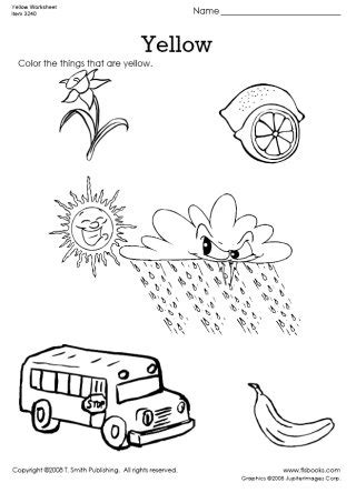 yellow coloring pages for toddlers color things that are yellow