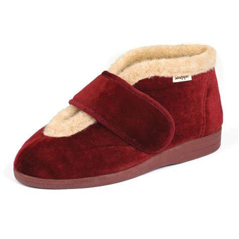 Sock 2in1 val wide slipper 4e 6e foot comfort