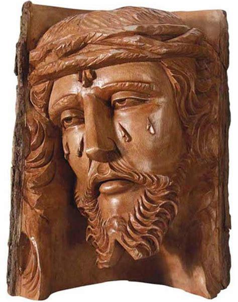 imagenes de paisajes tallados en madera talla madera rostro de cristo busto de cristo talla madera