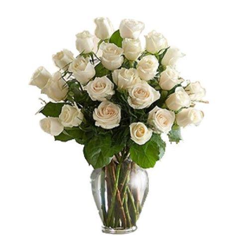 White Roses In Vase by White Roses In A Vase