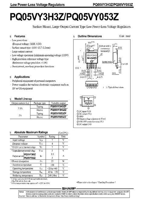 transistor zo 607 pq05vy053z 661977 pdf datasheet ic on line