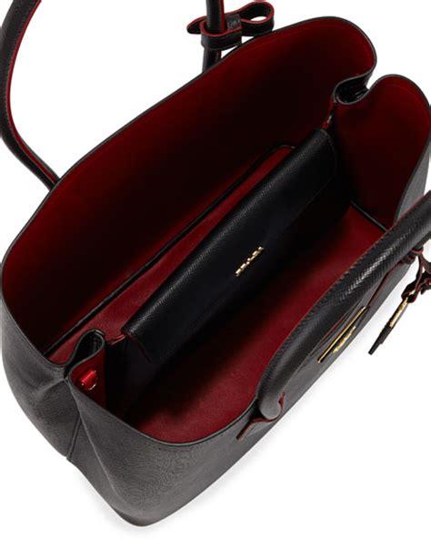 Prada Yostonia 4030 Leather prada saffiano cuir large zip tote parada handbag