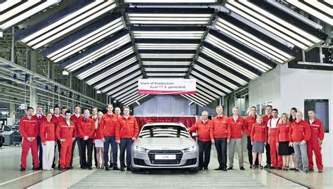 audi factory third generation audi tt production starts at factory in